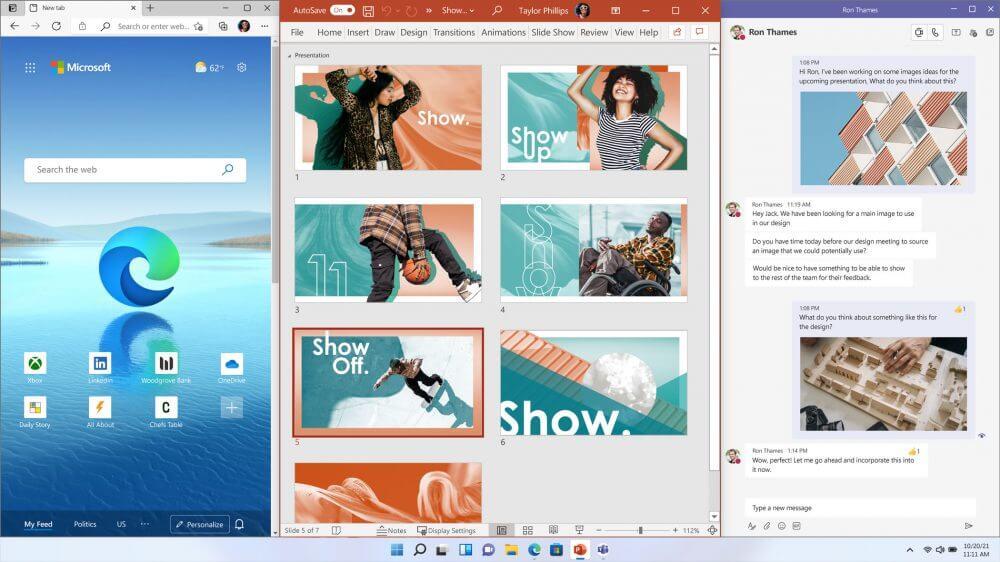 Windows 11 Birden fazla uygulama koleksiyonu