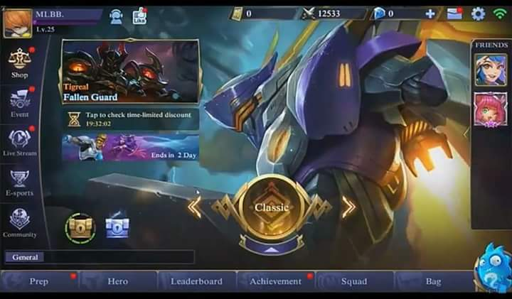 Look! Mobile Legends New User Interface