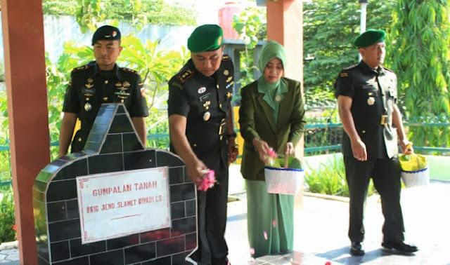 Dandim Klaten Ziarah Ke Taman Makam Pahlawan Jurug