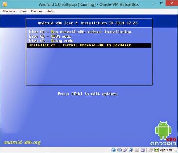 تثبيت أحدث إصدار من أندرويد Android 5.02 Lollipop على حاسوبك