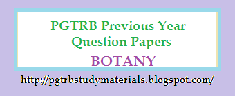 PGTRB Botany Previous Year Question Paper