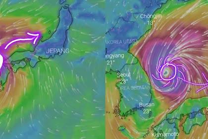 2 Negara Yaitu Jepang Dan Korea Selatan Terancam Badai Tropis Yang Akan Hantam di Negara Tersebut.