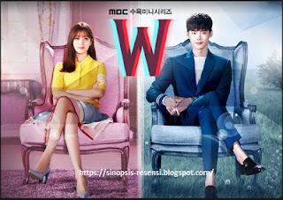 Sinopsis Drama Korea W Webtoon, Lee Jong Suk, Webtoon, W, Serial Korea