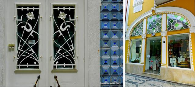 Detalhes de fachadas de Aveiro, Portugal