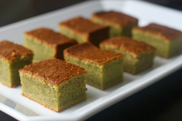Thai Green Tea Coconut Cake Recipe