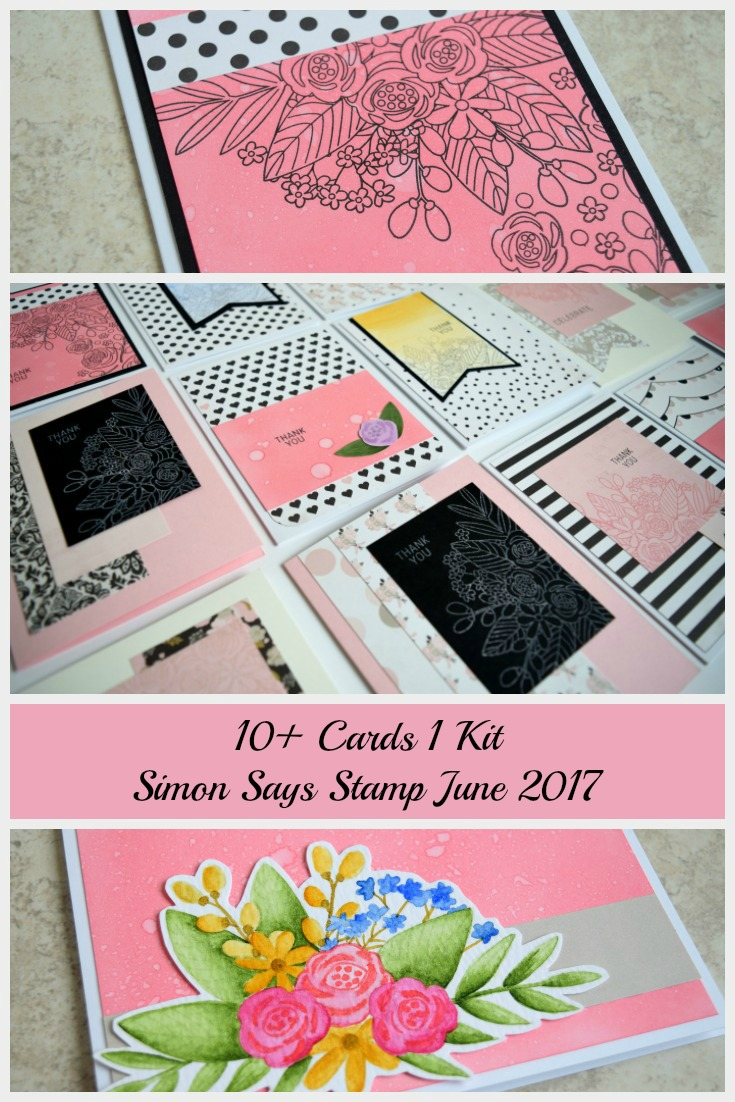 Kit Cards by Jess Crafts using Simon Says Stamp June 2017 Card Kit Blissful