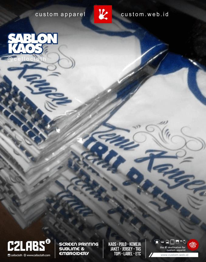 Temu Kangen Alumni Sablon Kaos - Kaos Reuni Online