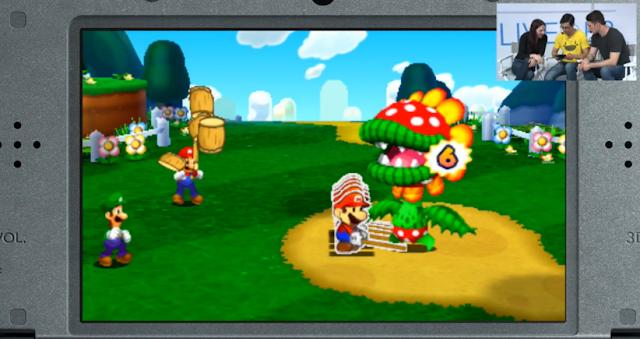 Mario & Luigi Paper Jam Petey Piranha boss