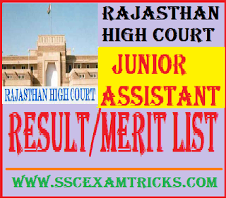 Rajasthan High Court Junior Assistant Result
