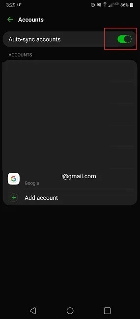 Gmail لا يعمل هنا هو Fixes Account Sync