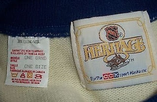 NHL Heritage Collection jersey - inside the neck label - 4