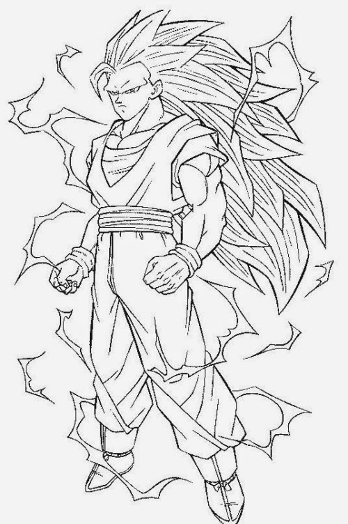 Goku sketch for colouring for Goku super saiyan 5 coloring pages