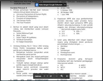 Contoh Soal SKD CPNS 2021, TWK, TIU dan TKP beserta Jawabanya