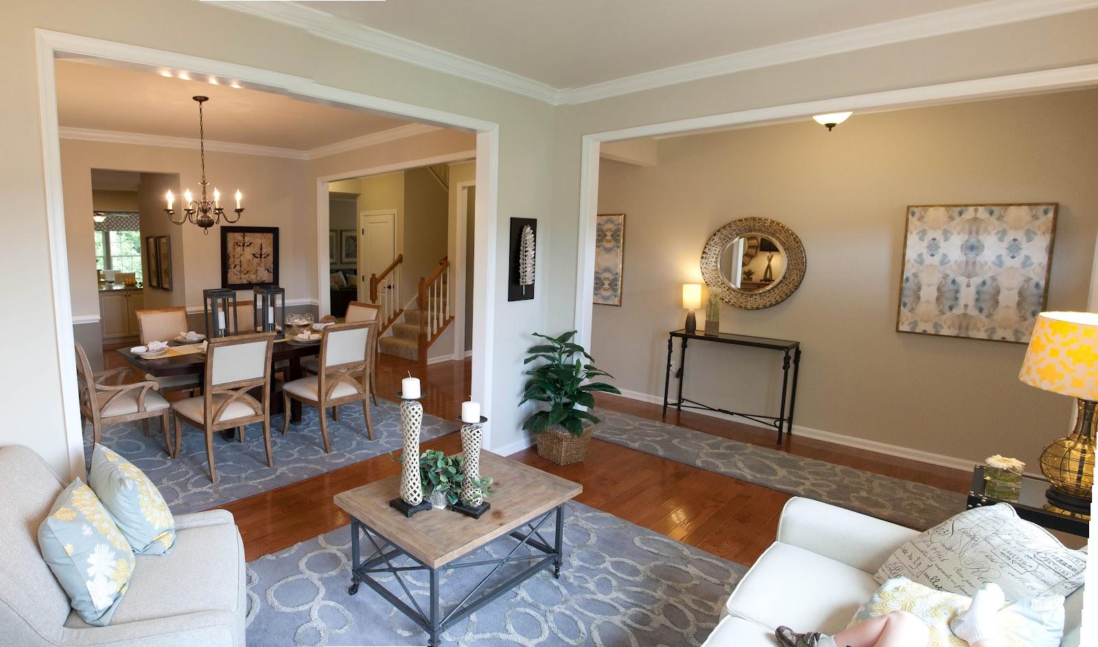 astounding model home living room | Rome-ing In Richmond: Model Panorama - per plan