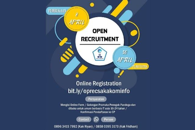 Open Recruitment Saka Kominfo Kwarcab Sleman