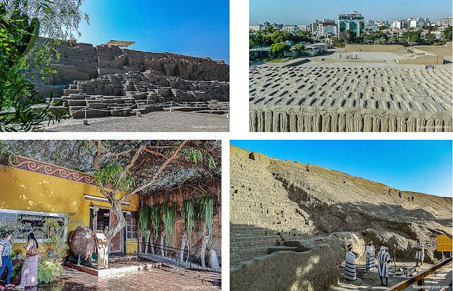 Huaca Pucllana, sítio arqueológico em Miraflores, Lima, Peru