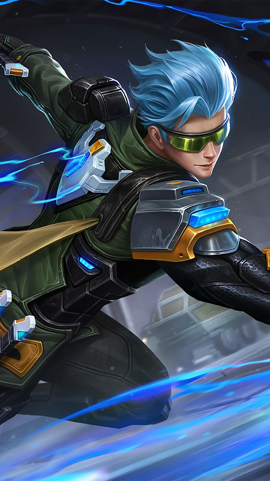 Wallpaper Gusion Cyber Ops Skin Mobile Legends HD for Android and iOS