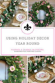 Ideas for Using Holiday Decor Year Round - sponsored from Tree Classics
