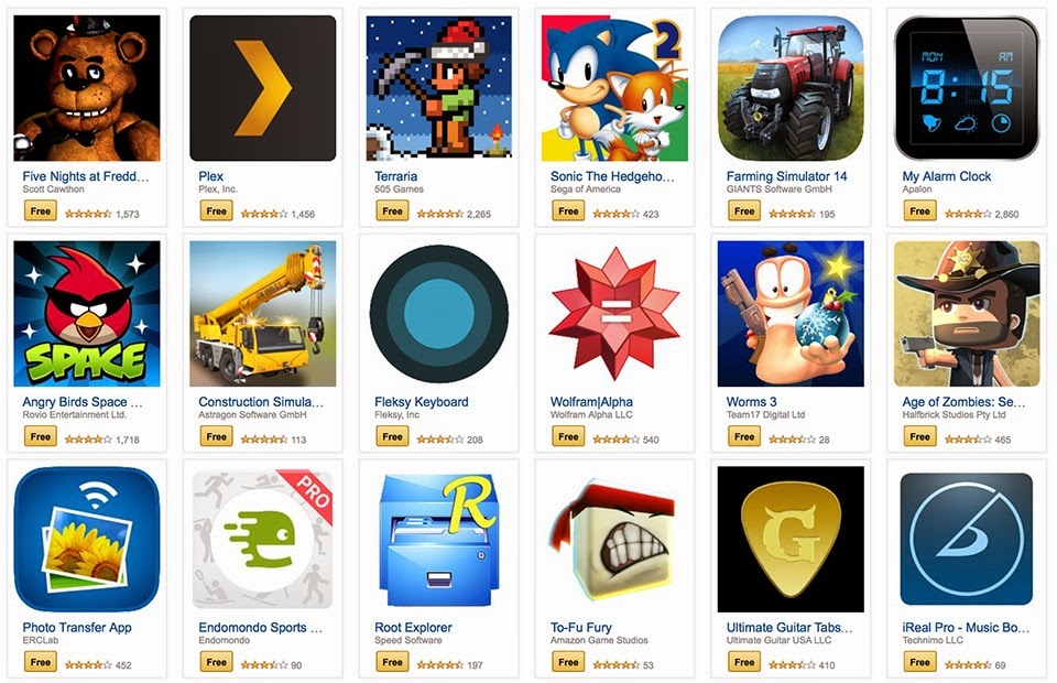 Buy your 10 cent android apps today in the amazon app store.
