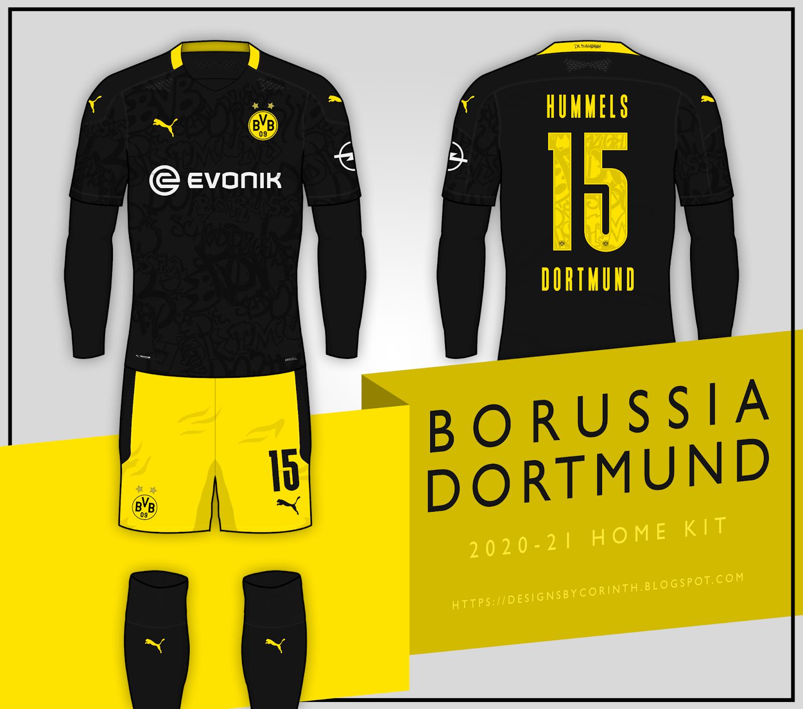 Borussia Dortmund 2020 21 Away Kit Prediction According To Leaks