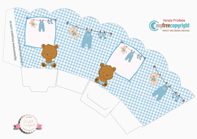 Baby Boy Bear: Free Printable Boxes.