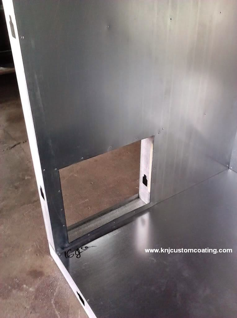 Powder Coating Oven Build heating element space