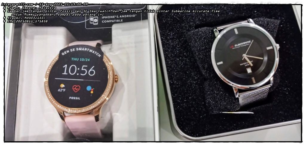 Pictures of the Fossil Gen 5E Smartwatch and the new Submarine Accurate Time non -smart watch arrived this afternoon.