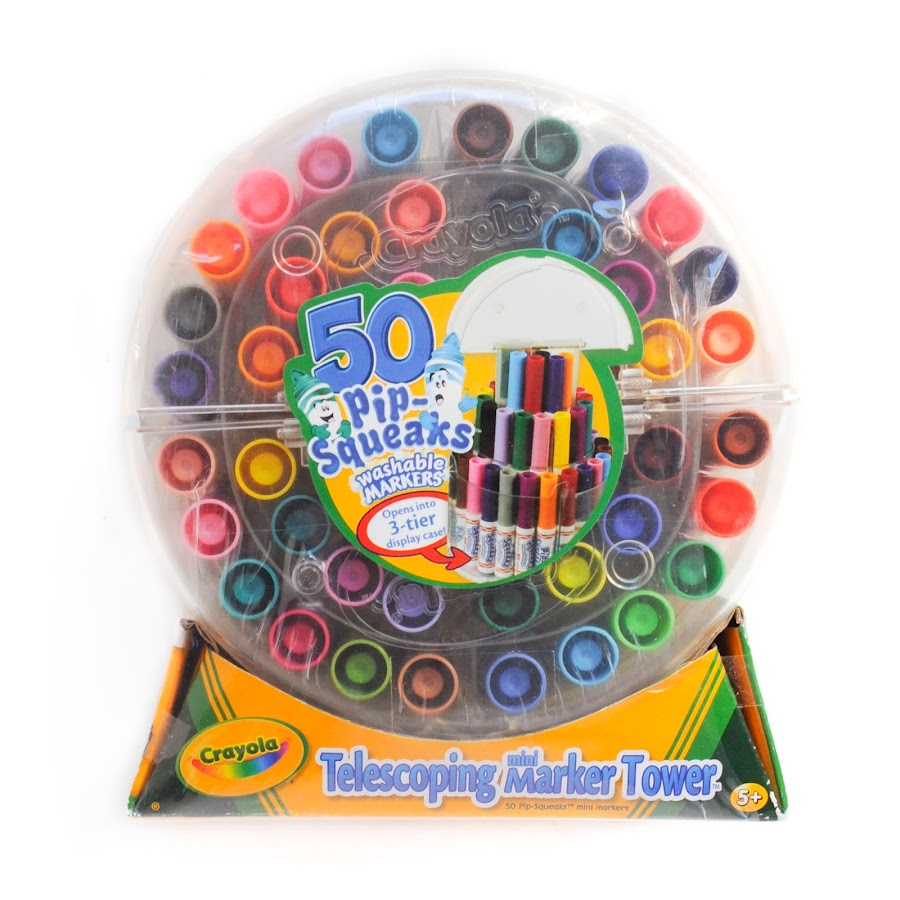crayola 50 pip squeaks washable markers what s inside the box