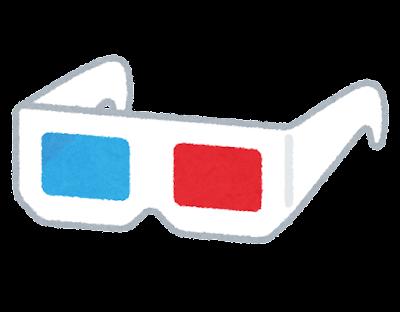 赤青の3Dメガネのイラスト