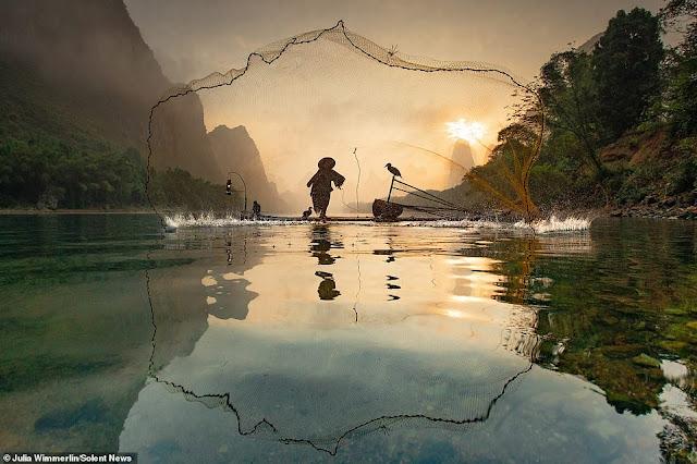 Ảnh đẹp Lão Ngư phủ tại sông Lệ Giang, Trung Quốc 6