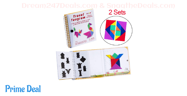 USATDD Tangram 360 Magnetic Puzzle Travel Games 30% OFF