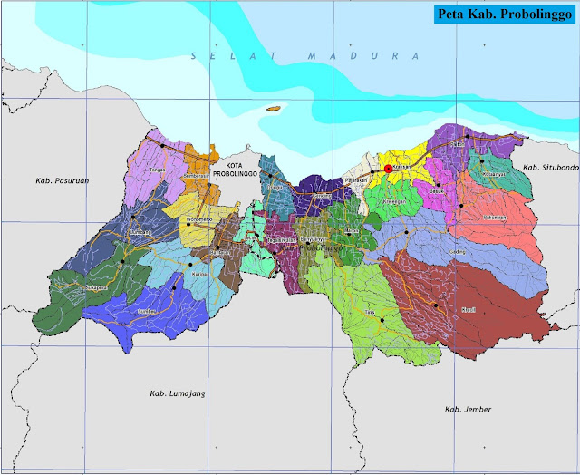 Peta Kabupaten Probolinggo