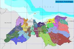 Peta Kabupaten Probolinggo Gambar HD Lengkap dan Keterangannya