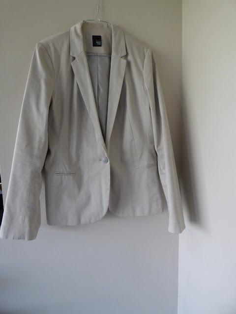 veste de tailleur beige