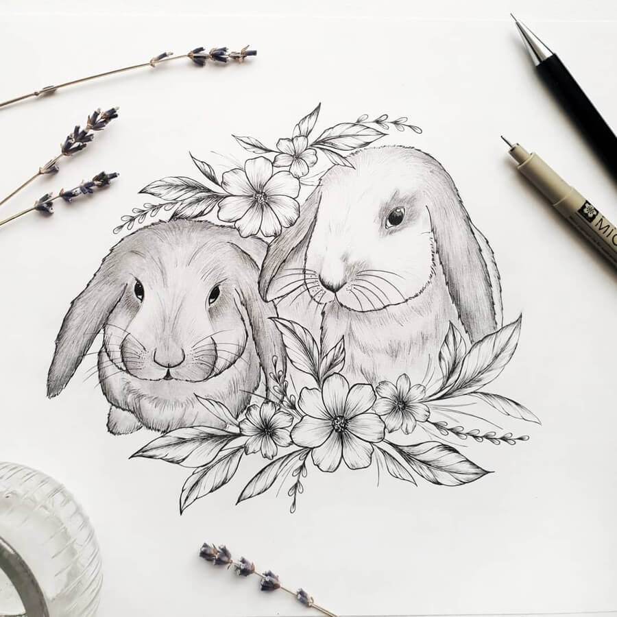 05-Bunnies-and-flowers-Marina-Tim-www-designstack-co