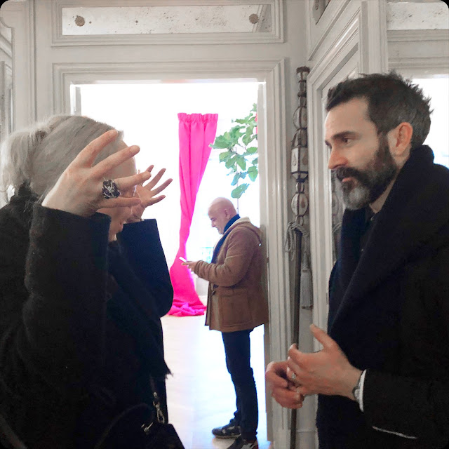 Eleonora de Gray and Daniel Roseberry, artistic director of Schiaparelli Fall-Winter 2020-2021 Paris by RUNWAY MAGAZINE