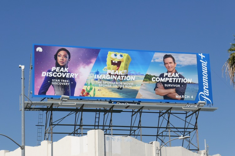 Peak Discovery Paramount+ launch billboard