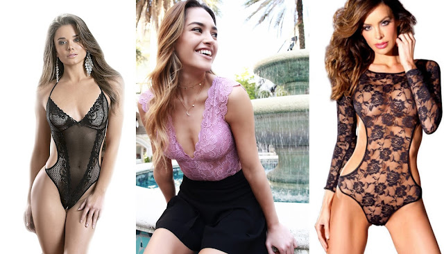 Lace teddies by Escante, Real Lingerie, and Be Wicked