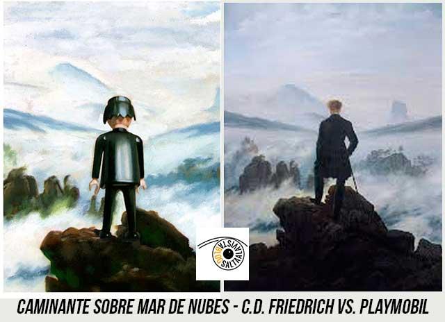 Cuadro-Caminante-Sobre-Mar-de-Nubes-de-Caspar-David-Friedrich-Hecho-con-Playmobil