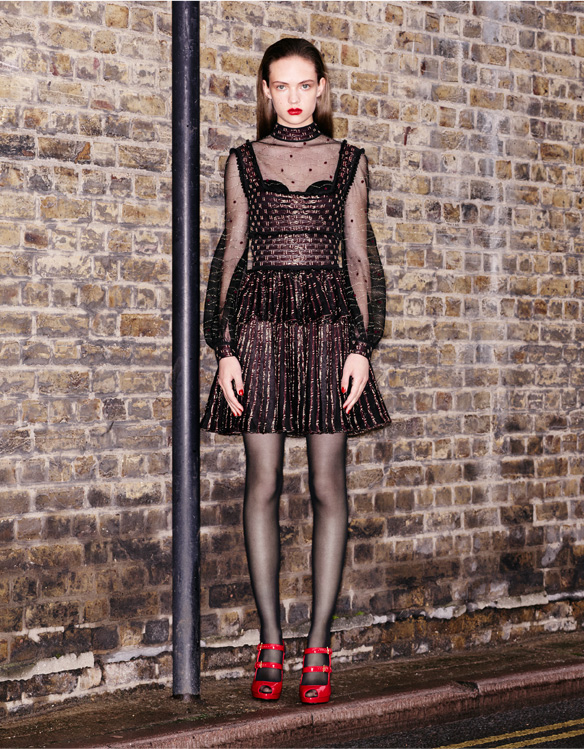 1940's Inspired Lace Mini Dress