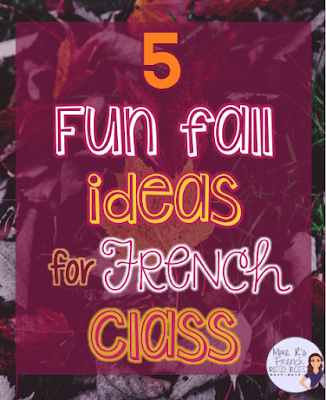 5 fun fall ideas for French class