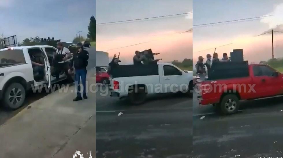 Vídeo, con total impunidad así desfila el convoy de Sicarios del CJNG en Zamora; Michoacán