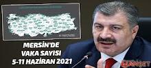 Mersin'de Vaka Sayısı 5-11 Haziran 2021