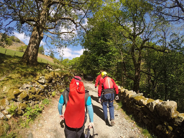 Heading uphill to our canyoneering start point - Canyoning in Coniston - GoPro