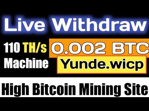 0.002 Btc Live Withdraw New Bitcoin Btc Mining Site 2020