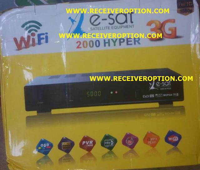 E-SAT 2000 HYPER HD RECEIVER CCCAM OPTION