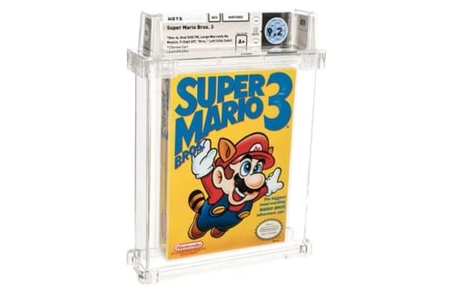 Super Mario Bros.3 is the most expensive game title