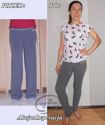 jak zwęzić nogawki, jak skrócić za długie spodnie krok po kroku