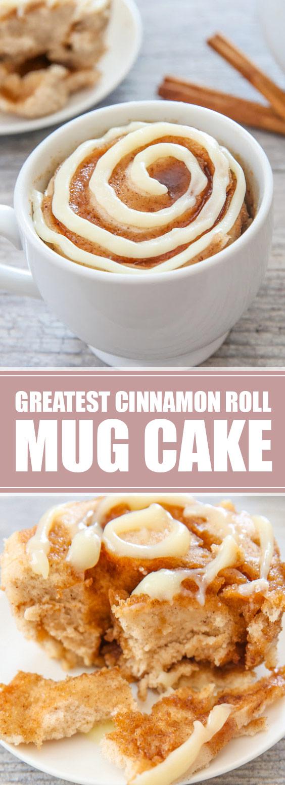 Greatest Cinnamon Roll Mug Cake #cinnamonroll #mugcake ...