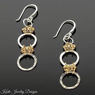 Two-Tone Waterfall Earrings